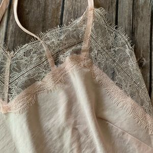 Vintage Dresses - Lace Detail Slip Dress